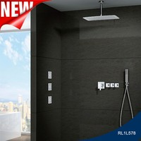 Ceiling mounted rainfall shower faucet system