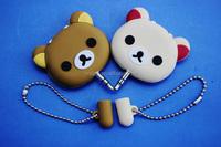 Low price High quality! Cute Bear-shape music splitter Custom Cartoon-shape earphone splitter 3.5mm stereo headphone splitter