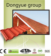 decorative ridge roof tile stone coated steel roof tile