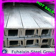 canal barras de acero tamaños