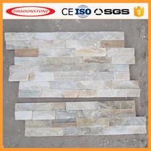 Natural de oro <span class=keywords><strong>cuarcita</strong></span> pared interior de piedra / paneles de pared / piedra