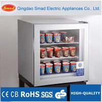Commercial supermarket countertop ice cream display freezer showcase