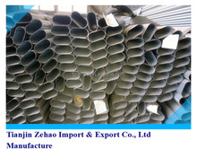 building materials/hollow/fence/construction/API/JIS/GB Welded API fence China Galvanized oval steel pipe