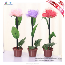 factory direct price rubber flower ball pen with pot ,advertising ball penFlowers Pen