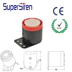 DC12Vcar motor siren factory price mini Loud Sound Piezo Siren ps-06