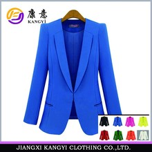 charming design fabric to make blazer suit women 2015