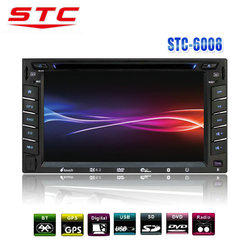 Hot Sale 2 Din Car Radio with Navigation China STC-6008DVD