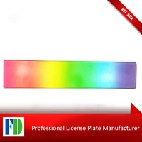 european colourful reflective plate