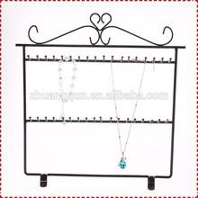 Base- giratorio de metal pulsera de diseño estante de exhibición, collar de la joyería muestra