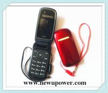 Hot selling quad band flip dual sim mobile phone black and red black and red with low price