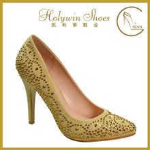 Rhinestones decoration wholesale women fashion high heel shoes
