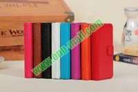 Litchi Pattern Genuine Leather Case for iPhone 4 With Cards Slots