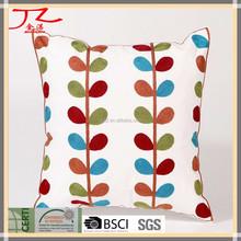Hot Sale Cotton Linen home decorative embroidery sofa cushion