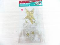 Best quality eco-friendly Sparkling stars window sticker christmas flower porcelain chinaware set