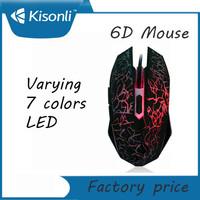 High Quality 2000 DPI LED wired gamer mouse for internet bar