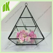 Cada florero es único desde es soplado a mano / importación geométrica florero de vidrio con mango