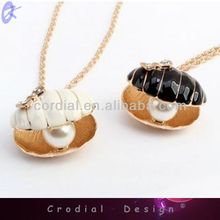 2014 Cheap Fashion Jewelry Gold Chain Shell Necklace Within Pearl For Costume