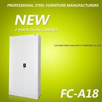 new design office lockable two door metal filing cabinet wardrobe cabinet used