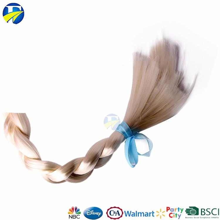 FJ marca crianças acessórios para o cabelo congelado Elsa perucas de cabelo grampo na extensão do cabelo