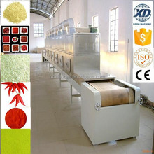industriall microwave tunnel type sterilizer/garlic green onion powder sterilization machine/ rose tea sterilizing machine
