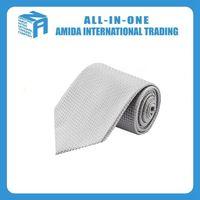 Silver dark pattern fashion men's silk tie