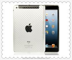 Wholesale Square Diamond Pattern Translucent TPU Case for iPad mini 1 / 2 / 3