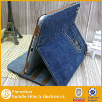 stand jean leather case for ipad mini with cardholder