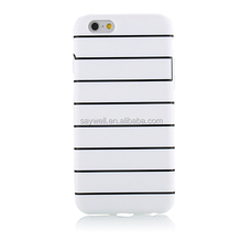 2IN1 dual color TPU and PC wholesale cell phone case for iphone 6 and 6 plus