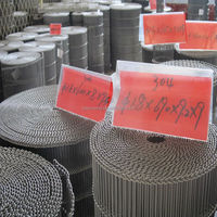 304 And 316L Stainless Steel Flat Flex Wire Mesh Conveyor Belt / Stainless Steel Wire Mesh Grid Rack/Wire Mesh Stainless Steel