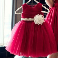 Latest Design High Quality Girls Prom Dress Kids Party Wear Western Dress Design