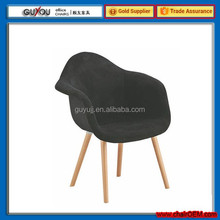 GY-605 Casual Wooden Leg Fabric Dining Chair