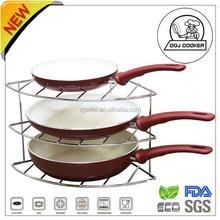 Aluminum pressed Ceramic cake Pan /3 pcs Fry Pan Set/As Seen on Tv/Made in China