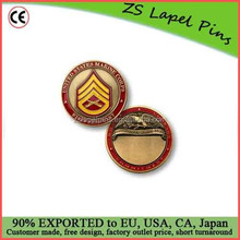 Custom quality free artwork design U.S. Marines Staff Sergeant Engravable Challenge Coin