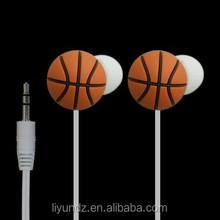 Alibaba hot selling PVC material basketball shape stereo earphone
