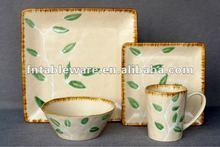 JHY-214 Reactive Glaze Square dinnerware set