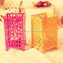 S/2PCS Chinese Traditional Style Metal Tealight Holder With Terrific Pattern
