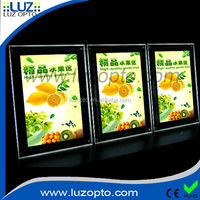 transparency acrylic led restaurant board, advertising frame, led acrylic display