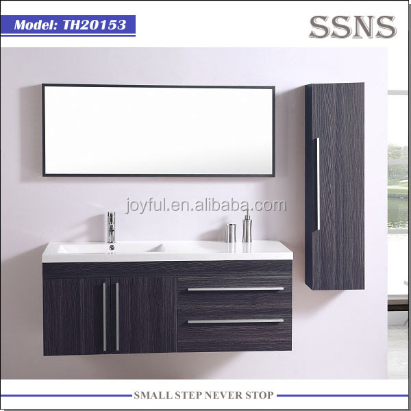 Solid Wood Wall Mounted Modern Bathroom Vanity Th20153