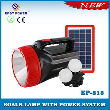 Camping Emergency Solar Flashlight Big Torch with USB Output for Lighting with cell phone charger