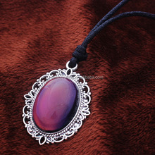 2015 New Style with Alloy Bottom 12 Color Change Mood Necklace