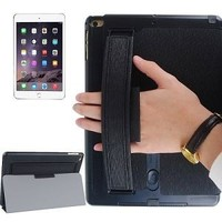 Toothpick Texture Expand Sound Handheld Leather Smart Case for iPad Air 2