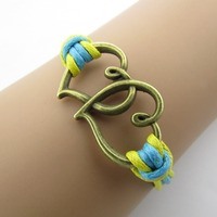 Double Heart color restoring ancient ways fashion bracelets