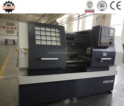 Hoston CNC Lathe with flat bed and wide hard guide way