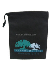 Promotional plain polyester Drawstring Bag For Shopping