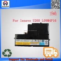100% new original 14.8V 38Wh 4Cell Laptop Battery For Lenovo IdeaPad U260 0876 0876-3AU 0876-3BU 0876-3CU 0876-33U L09M4P16