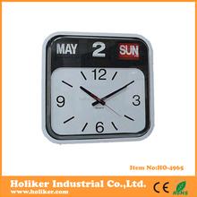 Auto Flip plastic wall clock with calendar