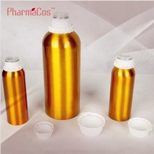 Gold coating aluminum bottle Gasoline/petrol Essential oils 500ml aluminum bottle