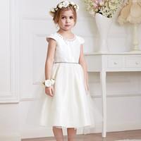 2015 New design wedding girls dress latest dress designs for kids