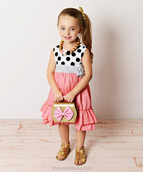 persnickety boutique clothing girls polka dot ruffle dress