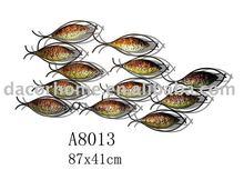 Schools of fish Metal wall decor